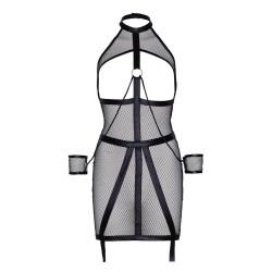 Leg Avenue KINK Wet Look Fishnet Open Bondage Dress